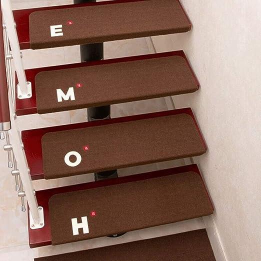 Alfombra-escaleras Alfombra para el suelo Alfombras para escalones Luminoso antideslizante Villa Home Sin pegamento Autoadhesivo Rotatorio de madera maciza Escalera para escalones Alfombras para el pa: Amazon.es: Hogar