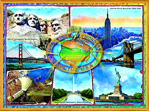 The 7 Manmade Wonders of the U.S.A. 1000 Piece Jigsaw Puzzle by SunsOut from SunsOut