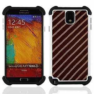 King Case - stripes fabric pattern design textile brown - Cubierta de la caja protectora completa h???¡¯???€????€?????brido Body Armor Protecci&A
