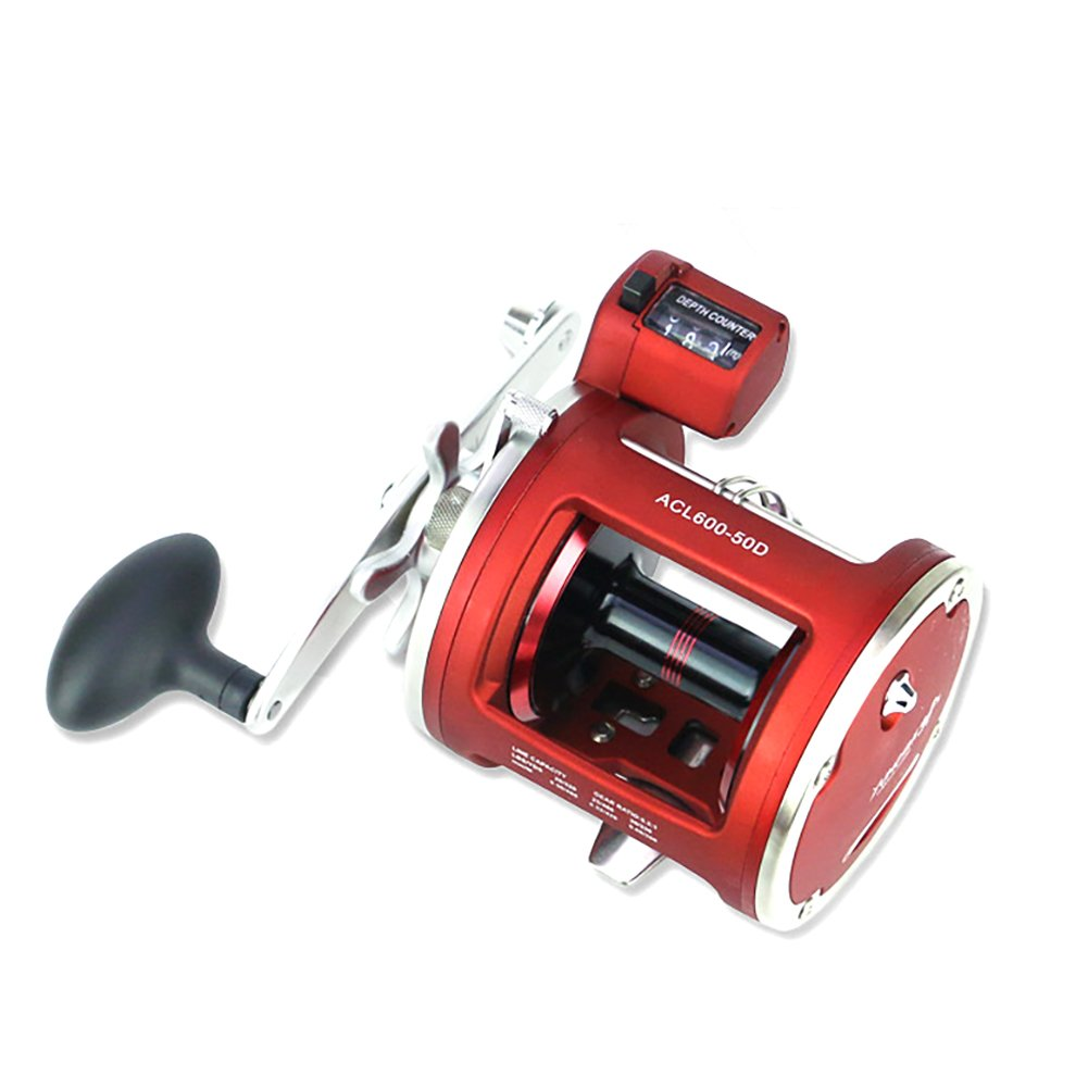 50D left hand elegantstunning ACL 12+1BB Round Baitcast Reel Counter Left Right Hand Jigging Trolling in Saltwater