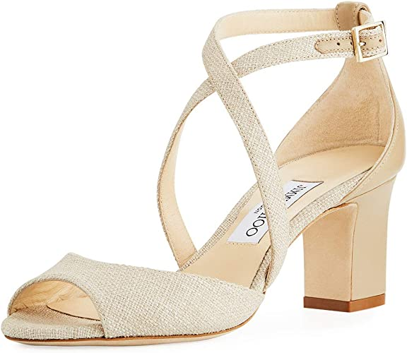 JIMMY CHOO Carrie Canvas Sandals Shoes