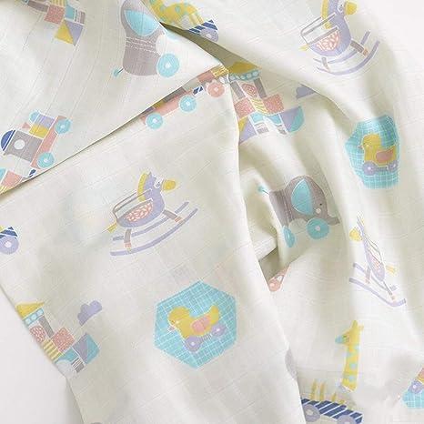 WLLLO tela de algodón de doble capa tela de bebé bebé ropa de ...