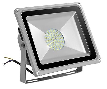 Leetop 50W Blanco Frio Luz Proyector LED Foco Proyector, IP65 ...