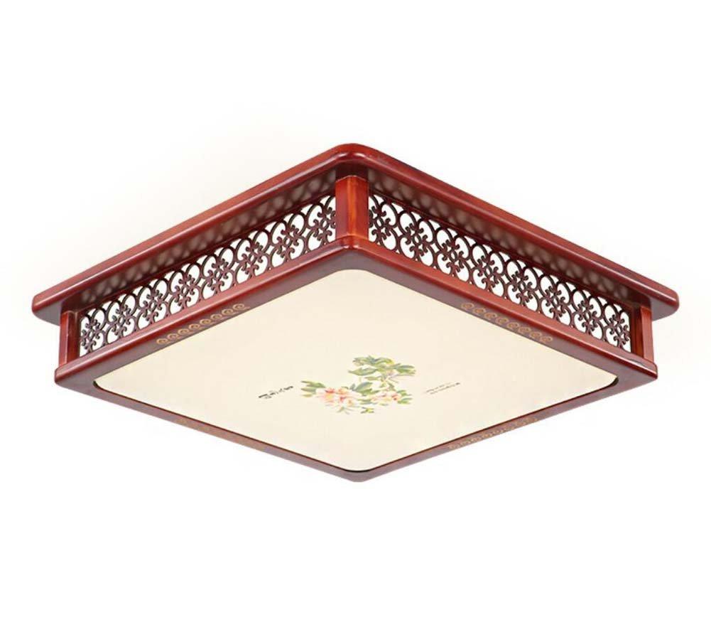 Onfly Lampada da soffitto a LED Cinese in Acrilico Lampada da soffitto a soffitto in Legno Quadrato Soggiorno Camera da Letto Studio Lampada da Scultura in Deco