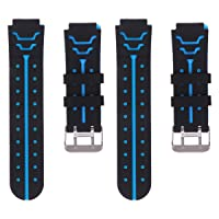2Pcs Watch Band - Fourth Generation Kids Watches Strap Wristband Replacement Strap Comfortable Strap Watch Accessories for Children Kid Wristwatch, Black and Pink