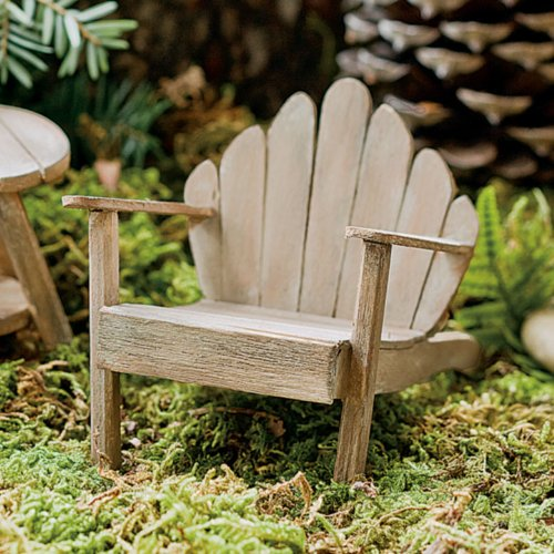 Miniature Fairy Garden Adirondack Weathered product image
