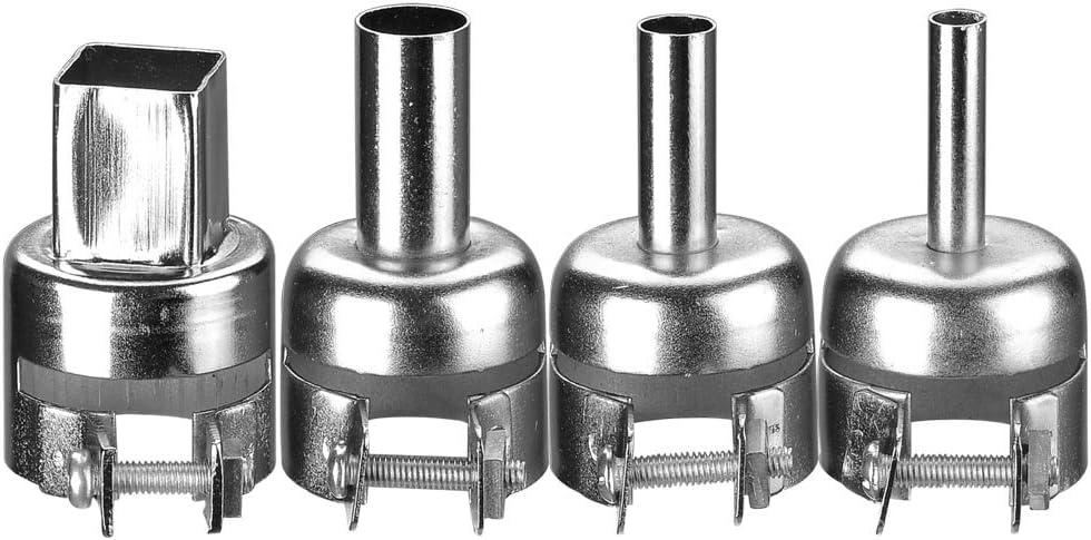 5 pcs 12mm BGA Circular Nozzles 850 SMD Hot Air Rework Soldering Station Gun NEW