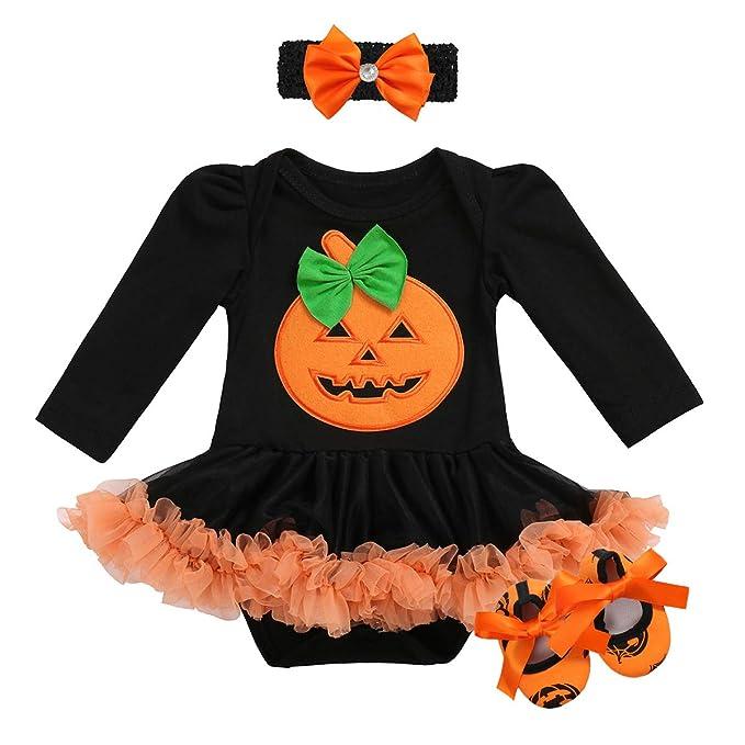 Amazon.com: Disfraz de calabaza para bebé o niña de ...