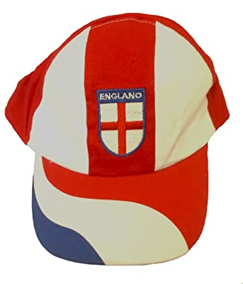 The Dragons Den England Red Blue   White World Cup Football Swirl Baseball  Adjustable Cap b2d14e3c27e6