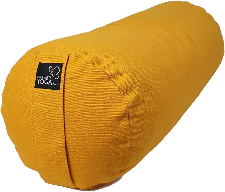Saffron Yellow Organic Buckwheat Yoga Bolster