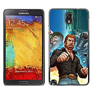 LASTONE PHONE CASE / Slim Protector Hard Shell Cover Case for Samsung Note 3 N9000 N9002 N9005 / Tough Man Kung Fu Martial Arts Tank Ussr by ruishername