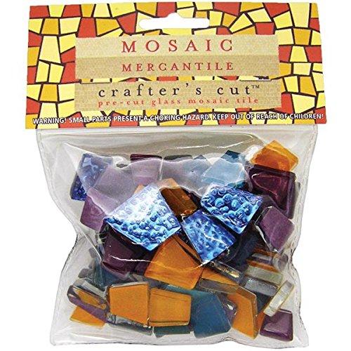 Mosaic Mercantile Mardi Gras Mosaic Tile, 1/2-Pound