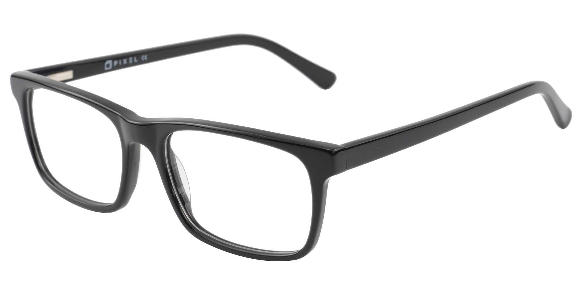 Pixel Eyewear Designer Computer Glasses with Anti-Blue Light Tint UV Protection, Anti-Glare, Full Rim, Acetate Frame Black Color - Buteo Style by Pixel Eyewear (Image #3)