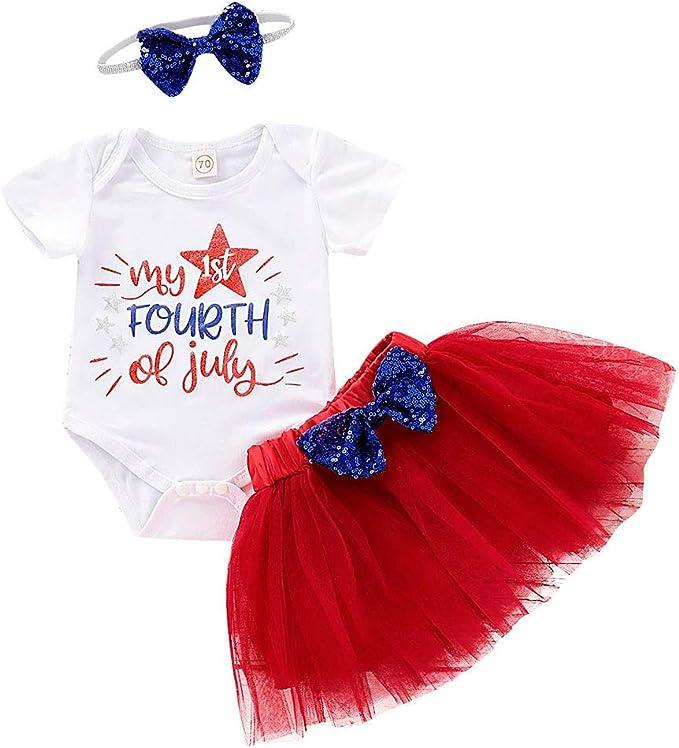 Conjunto de tutú para niña de 4 de Julio, diseño de Letras ...