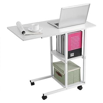 Estink - Mesa para Ordenador con Ruedas fijas, Escritorio de Ordenador portátil con Ruedas, Mesa sobre la Cama, sofá: Amazon.es: Hogar