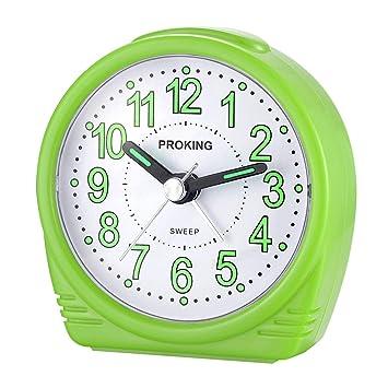 Alarm Clocks,Childrens Alarm Clock,Bedside Alarm Clock,Small Lightweight Travel Quartz Alarm Clock,Silent Non Ticking Analog Alarm Clock with Snooze and Light,Lightweight Analog Quartz Clock