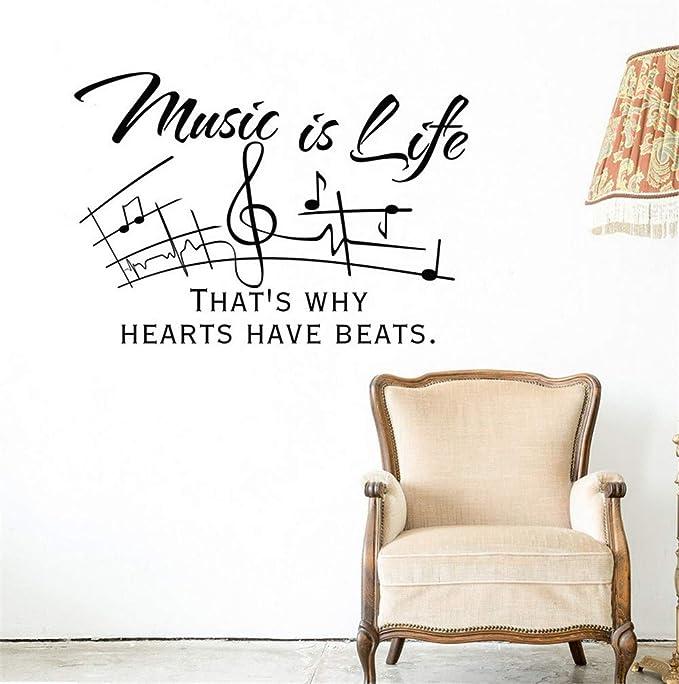 Hlonl Cita De La Música Tatuajes De Pared La Música Es La Vida ...
