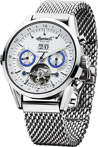 Ingersoll Men's IN1310SLMB Brandenburger Gate Analog Display Automatic Self Wind Silver Watch