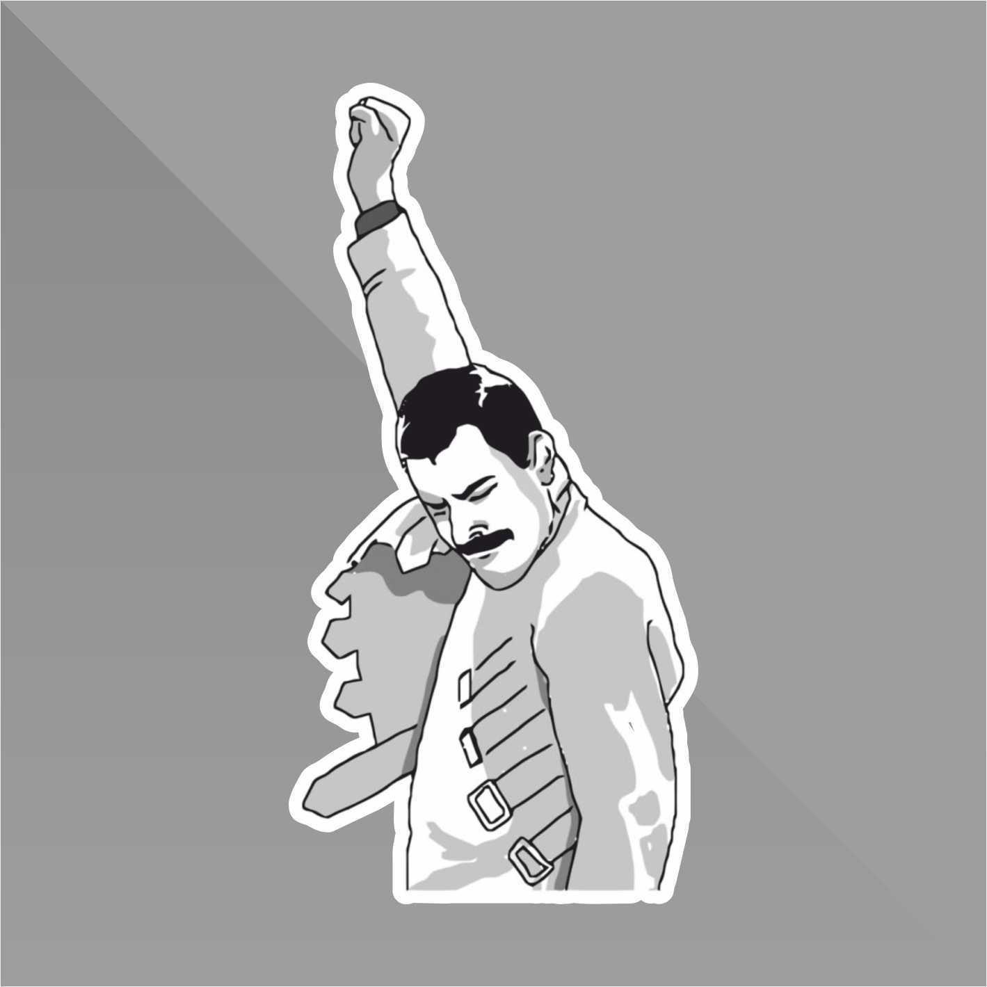 Sticker Freddie Mercury Meme Funny - Decal Auto Moto Casco Wall Camper Bike Adesivo Adhesive Autocollant Pegatina Aufkleber - cm 10 erreinge