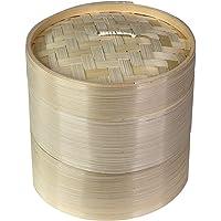 MadeTerra Cestas de Vapor de bambú orgánico Hechas a Mano de 2 Niveles, Cocina Saludable para albóndigas, Verduras…