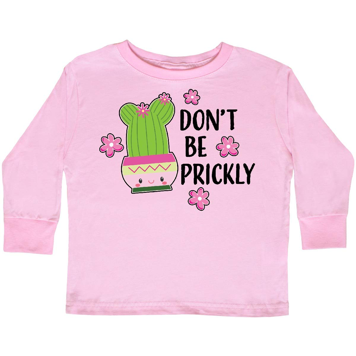 inktastic Dont Be Prickly with Cute Cactus Toddler Long Sleeve T-Shirt