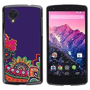 Be Good Phone Accessory // Dura Cáscara cubierta Protectora Caso Carcasa Funda de Protección para LG Google Nexus 5 D820 D821 // Diy Paper Gold Pink Brown