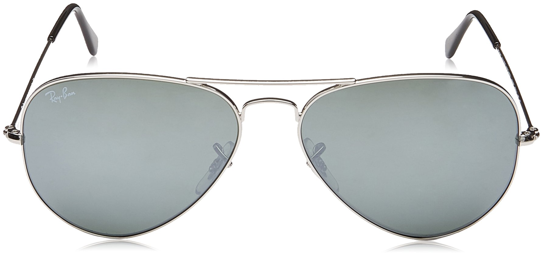 Ray-Ban 3025 Aviator Large Metal Mirrored Non-Polarized Sunglasses, Silver/Silver Mirror (W3277), 58mm by Ray-Ban (Image #2)