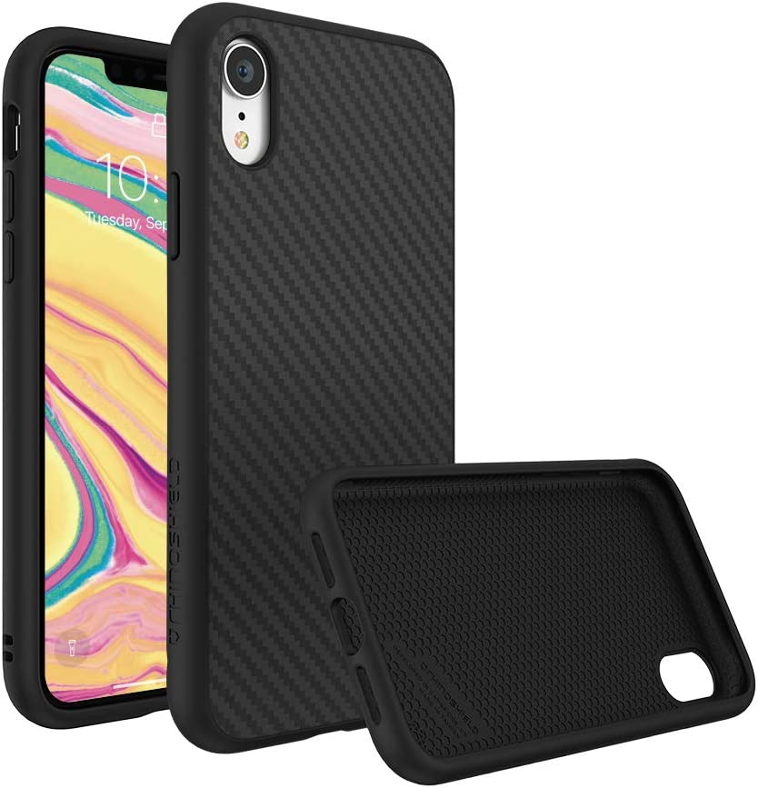 Amazon Com Rhinoshield Ultra Protective Phone Case Iphone Xr Solidsuit Military Grade Drop Protection Against Full Impact Supports Wireless Charging Slim Scratch Resistant Carbon Fiber Texture