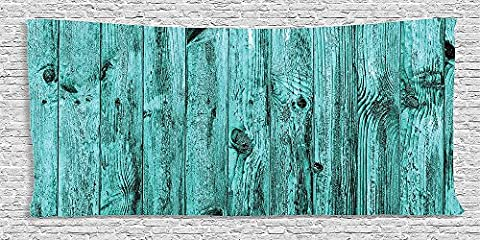 Cotton Microfiber Bathroom Towels Ultra Soft Hotel SPA Beach Pool Bath Towel Turquoise Collection Wall of Turquoise Wooden Texture Background Antique Timber Furniture Artful Print Blue
