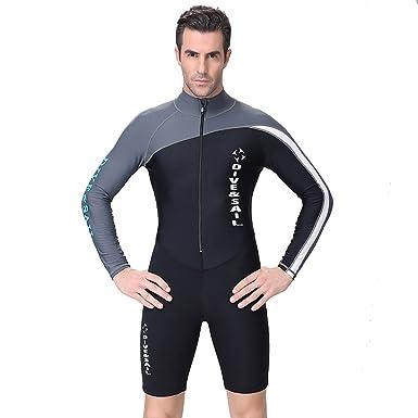 A Point Shorty Wetsuit Diving Suits Long-Sleeve Spring Suit Men Women (S aaf6e96a9981