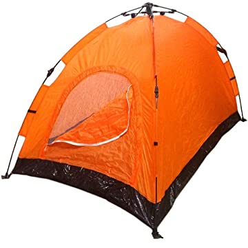best selling Instant Automatic Pop Up Backpacking Camping Hiking 2 Man Tent Orange Sealed