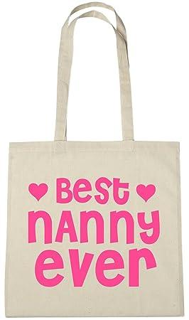 WORLD/'S BEST NANNY NATURAL COTTON SHOULDER BAG Grandparent/'s Day Gift