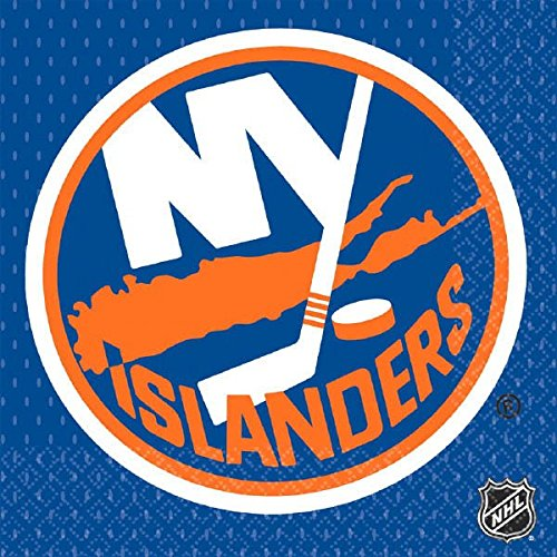 - NHL Hockey Sports Ney York Islanders Party Luncheon Napkins, 16 Pieces, Made from Paper, by Amscan