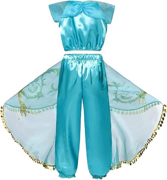 5pcs Disfraz de Princesa Disfraces Vestido Accesorios para Niñas ...