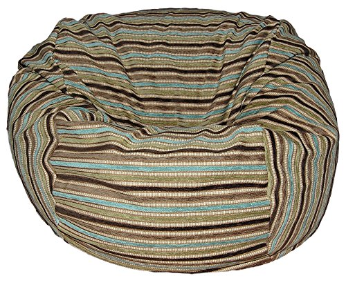 (Ahh! Products Chenille Stripe Coastal Washable Bean Bag Chair, Large)