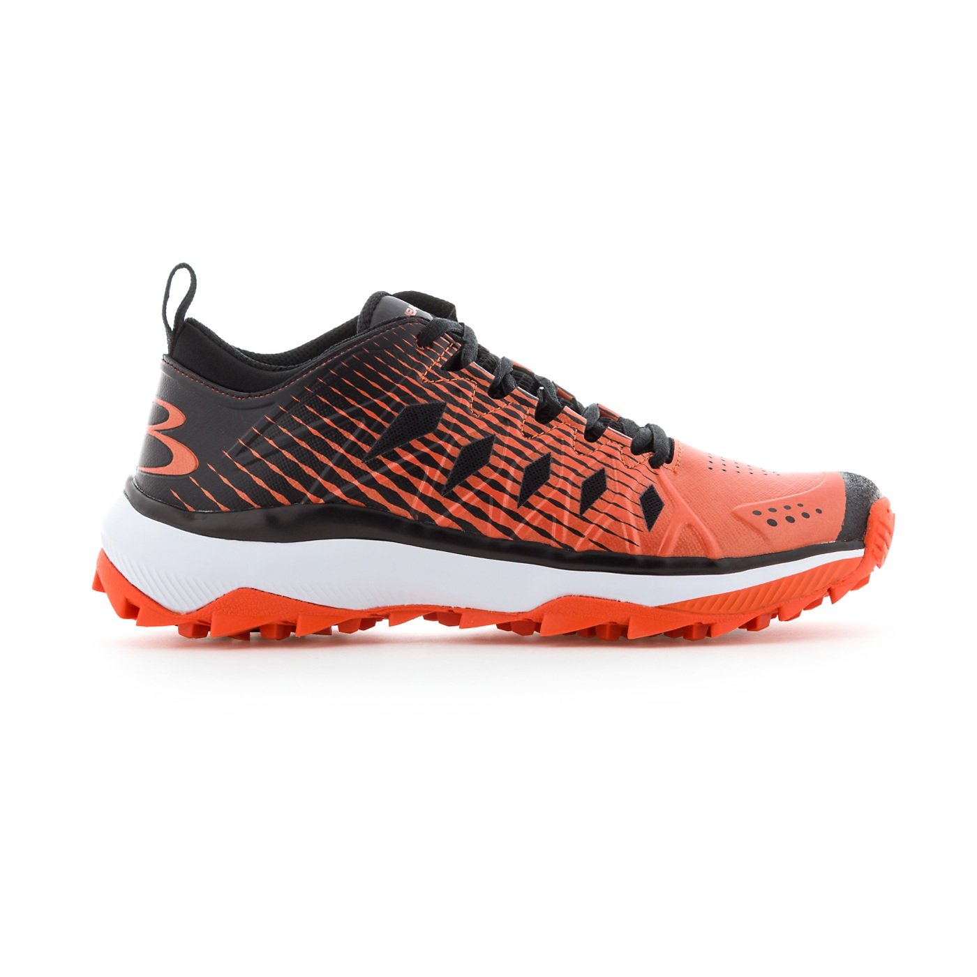 Boombah Women's Squadron Turf Shoes - 14 Color Options - Multiple Sizes B079K2SCR1 6.5|Black/Orange