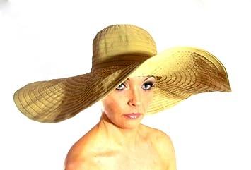 9c97e3a3034 Amazon.com   Tan Brown Floppy Large Sun Beach Hat   Hair Clips   Beauty