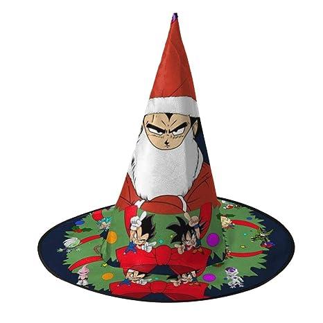NUJSHF Vegeta Corona de Navidad Dragon Ball Z Sombrero de Bruja ...