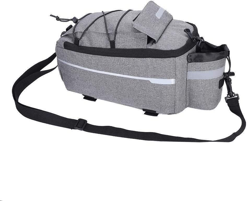 KSTE B-Soul Outdoor Bike Bicycle Cycling Rear Seat Tail Storage Bag Rack Trunk Pouch Package(Grey)