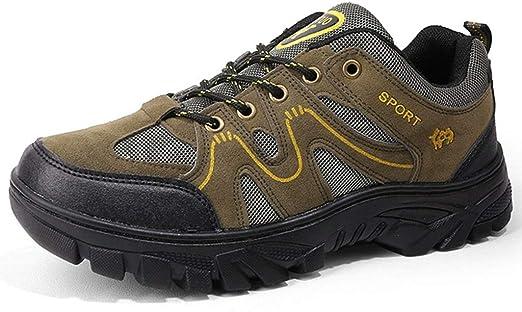 Hombres Zapatos for Caminar Completamente a Prueba de Agua Trekking Enfoque Escalada al Aire Libre Senderismo tamaño Fresco Trail Running Zapatos de la Zapatilla (Color : Army Green, Size : 43): Amazon.es: Hogar