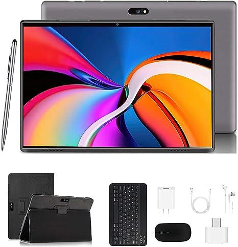 Tablet 10.1 Pulgadas 4G LTE Call ,Android 9.0 Google Certificación GMS Tablet PC ,3Go RAM + 32/128Go ROM ,Quad Core ,8000mAh Batterie,5MP +8MP, WiFi ...