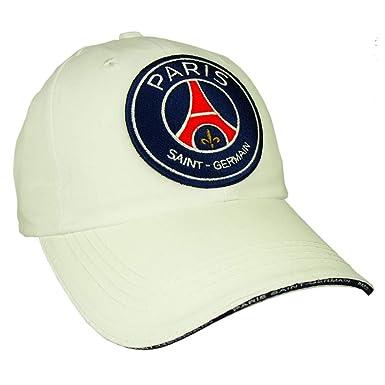 PSG - Official Paris Saint-Germain Men s Cap - Adjustable size - Color    White 363c6d84963