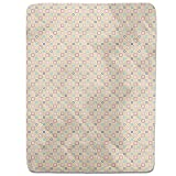 Retro Quatrefoil Fitted Sheet: King Luxury Microfiber, Soft, Breathable