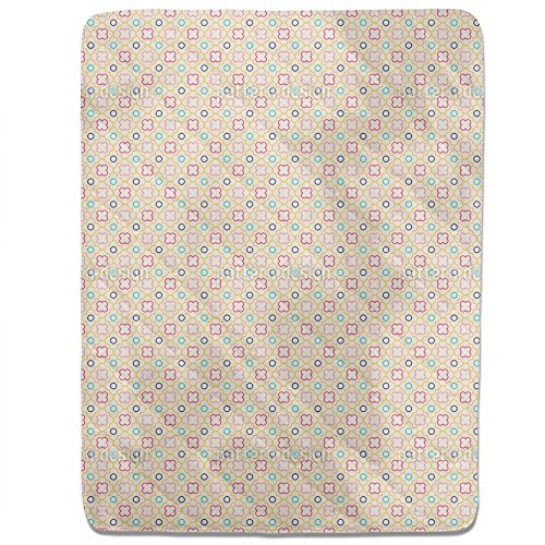 Retro Quatrefoil Fitted Sheet: King Luxury Microfiber, Soft, Breathable by uneekee