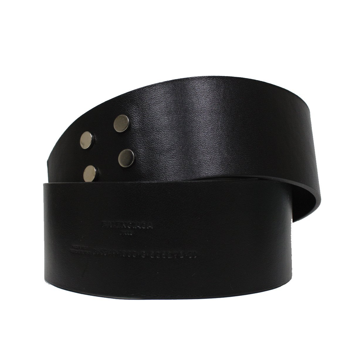 Balenciaga Couture Paris Wide Leather Waist Belt 365358 Size 80 cm / 32 in