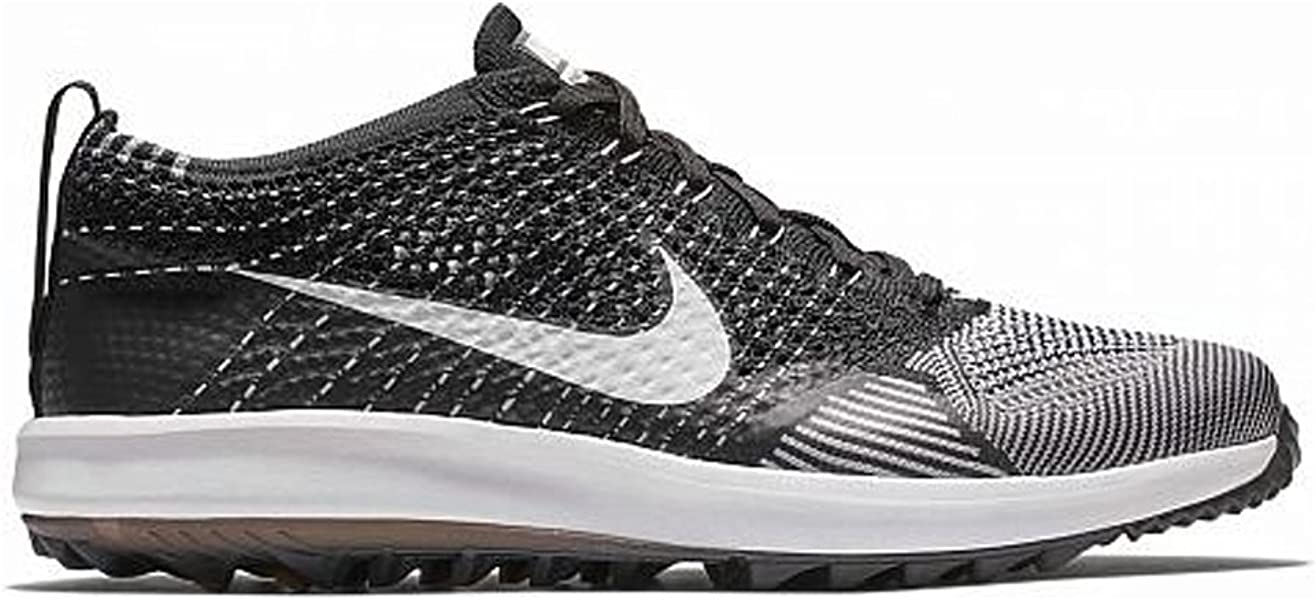 843ed35e06c0 NIKE Men s Flyknit Racer G Low-Top Sneakers (Black White 001)