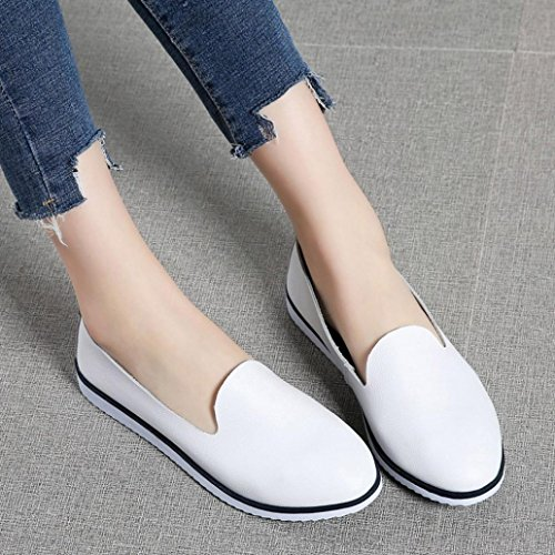 Neartime Promotion❤️Women Shoes, 2018 Fashion Flats Leather Shoes Shallow Slip On Leisure Lazy Comfortable Sandals by Neartime Sandals (Image #4)