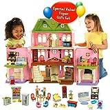 Fisher Price Loving FamilyTM Grand Dollhouse Super Set (Caucasian Family)