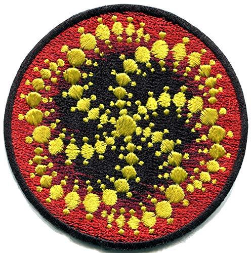 - Crop Circle UFO Alien ET Embroidered Applique Iron-on Patch C-3