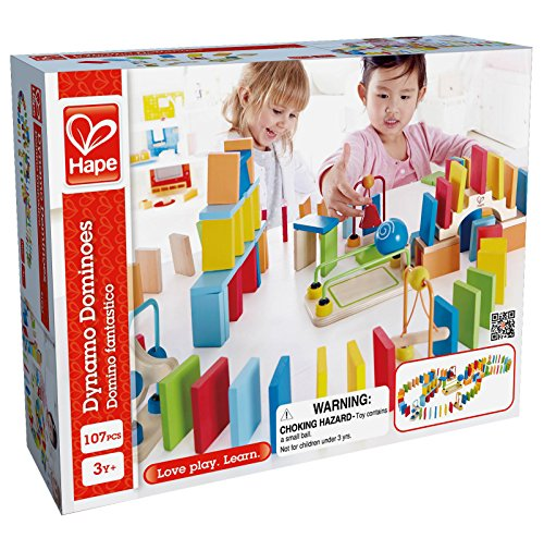 Award Winning Hape Dynamo Kid's Wooden Domino Set ()